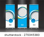 roll up banner stand design.... | Shutterstock .eps vector #270345383