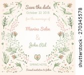 save the date and greetings... | Shutterstock .eps vector #270345578
