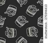 doodle chicken seamless pattern ... | Shutterstock . vector #270346613