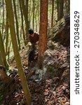 senior caucasian man woodcutter ... | Shutterstock . vector #270348629