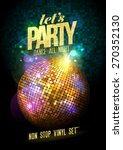 let s party design with gold... | Shutterstock .eps vector #270352130