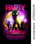 Dance Party Poster With Go Go...