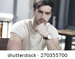 attractive man deep in... | Shutterstock . vector #270355700