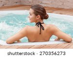 Beautiful Spa. Back View Of A...