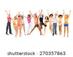 isolated over white victory is... | Shutterstock . vector #270357863