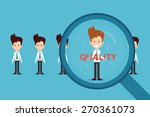 hand searching quality  | Shutterstock .eps vector #270361073