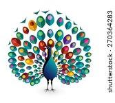 peacock  eps10 vector   Shutterstock .eps vector #270364283