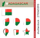 madagascar flag set  flag set ... | Shutterstock .eps vector #270365393