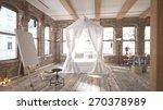modern loft bedroom  3 d render ...   Shutterstock . vector #270378989
