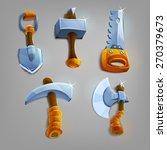 set of cartoon hand tools....
