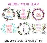 vector wedding wreath graphics. ... | Shutterstock .eps vector #270381434