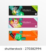set of banners with stickers ... | Shutterstock .eps vector #270382994