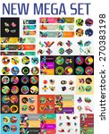 mega collection of flat web... | Shutterstock .eps vector #270383198