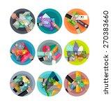 set of vector abstract...   Shutterstock .eps vector #270383660