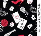 seamless mafia vintage... | Shutterstock .eps vector #270390644