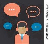 male call center avatar. man... | Shutterstock .eps vector #270393110