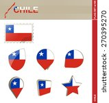 chile flag set  flag set  100.... | Shutterstock .eps vector #270395270