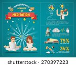 benefits of meditation... | Shutterstock .eps vector #270397223