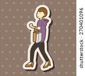 shopper theme elemets  cartoon... | Shutterstock . vector #270401096