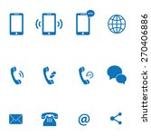 mobile icon set | Shutterstock .eps vector #270406886