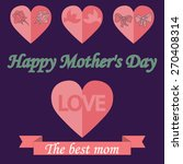 mothers day design over dotted... | Shutterstock .eps vector #270408314