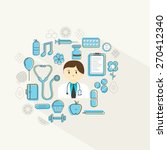 illustration of a doctor and... | Shutterstock .eps vector #270412340