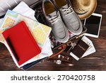 packed suitcase of vacation... | Shutterstock . vector #270420758