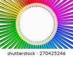 multicolored pencils in a circle   Shutterstock . vector #270425246