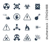 vector hazard and danger icon... | Shutterstock .eps vector #270426488