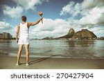 young athletic man standing... | Shutterstock . vector #270427904
