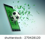 Tablet Pc With Soccer Field An...