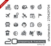 shipping   tracking icons   ... | Shutterstock .eps vector #270429704