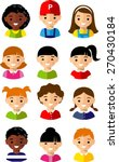 vector illustration child face... | Shutterstock .eps vector #270430184