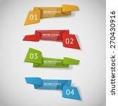 vector infographic origami... | Shutterstock .eps vector #270430916