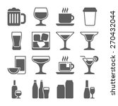drink icons | Shutterstock .eps vector #270432044