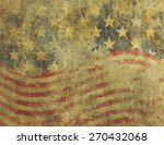 a us american flag design in a... | Shutterstock . vector #270432068