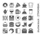 food icons | Shutterstock .eps vector #270434864