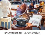 antique gramophone on the... | Shutterstock . vector #270439034