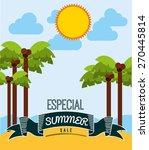 summer sale design  vector... | Shutterstock .eps vector #270445814