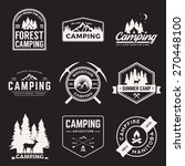 vector set of camping and... | Shutterstock .eps vector #270448100