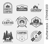vector set of camping and... | Shutterstock .eps vector #270448103