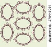 set of oval vintage frames ... | Shutterstock .eps vector #270449084