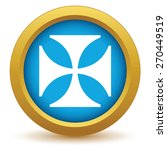 gold religion cross icon on a... | Shutterstock .eps vector #270449519