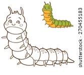 green caterpillar   coloring... | Shutterstock .eps vector #270455183