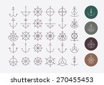 helm and anchor hipster logos... | Shutterstock .eps vector #270455453