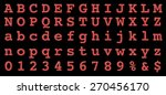vector retro font with bulbs. | Shutterstock .eps vector #270456170