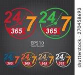 vector   24 7 365  twenty four... | Shutterstock .eps vector #270458693