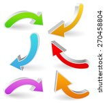 3d curved  bent colorful vector ... | Shutterstock .eps vector #270458804