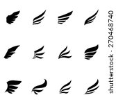vector black wing icons set | Shutterstock .eps vector #270468740
