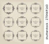 calligraphic frame design... | Shutterstock .eps vector #270469160